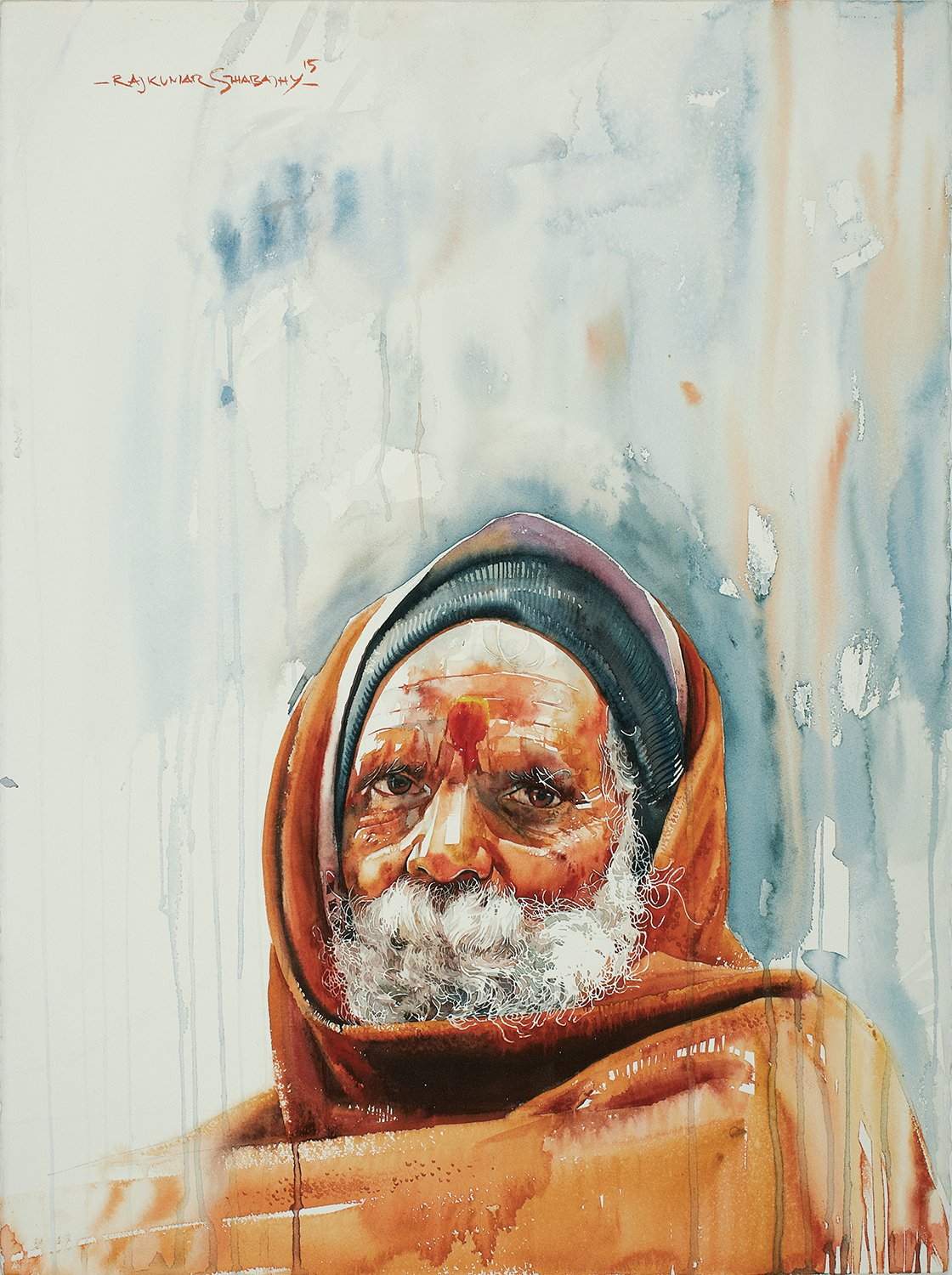 Kumbhmela Series 23|R. Rajkumar Sthabathy- Water Color on Paper, 2013, 22 x 30 inches