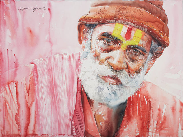 Kumbhmela Series 24|R. Rajkumar Sthabathy- Water Color on Paper, 2013, 22 x 30 inches