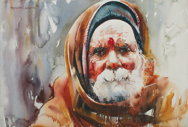 Kumbhmela Series 27|R. Rajkumar Sthabathy- Water Color on Paper, 2013, 15 x 21 inches