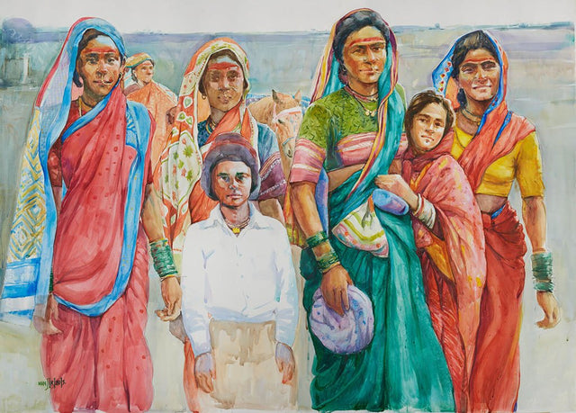 Group|Manjiri More- Water color on Paper, 2013, 42 x 58 inches