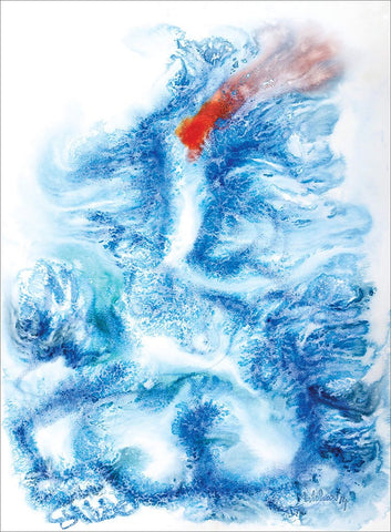 Ganesha 28|N.S. Manohar- Water color on board, 2014, 30 x 22 inches