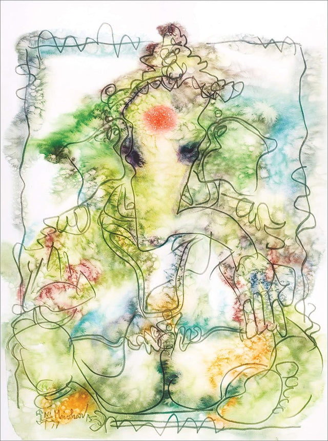 Ganesha 34|N.S. Manohar- Water color on board, 2015, 30 x 22 inches