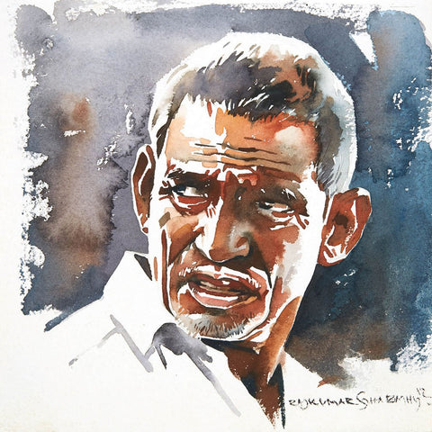 Portrait Series 85|R. Rajkumar Sthabathy- Water Color on Paper, 2012, 7 x 7 inches