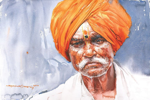 Portrait Series 112|R. Rajkumar Sthabathy- Water Color on Paper, 2016, 15 x 22 inches