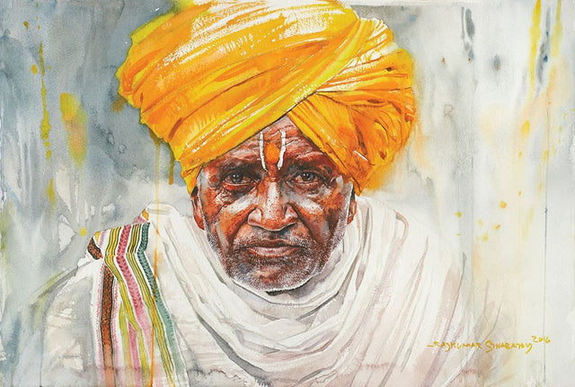 Portrait Series 113|R. Rajkumar Sthabathy- Water Color on Paper, 2016, 15 x 22 inches