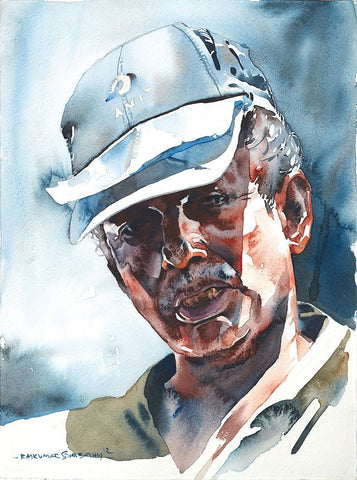 Portrait Series 118|R. Rajkumar Sthabathy- Water Color on Paper, 2012, 15 x 11.5 inches
