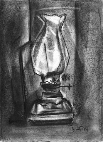 Still Life 6|S. Mark Rathinaraj- Charcoal on Board, , 13.5 x 9.75  inches