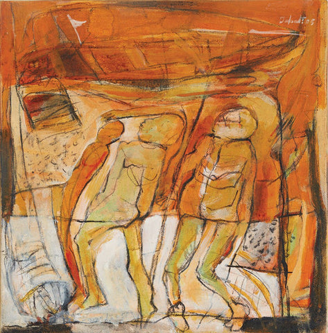 Untitled 37|Tapati Sarkar- Acrylic on Canvas, 2005, 12 x 12 inches