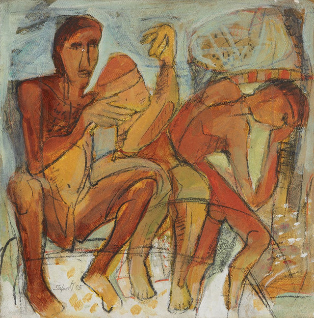 Untitled 40|Tapati Sarkar- Acrylic on Canvas, 2005, 12 x 12 inches