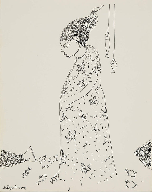 Beside of my Dream 118|A. Vasudevan- Pen and ink on board, 2013, 9 x 7 inches