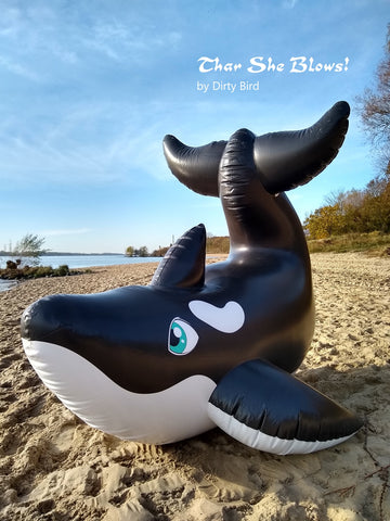 PRE-ORDER - Inflatable Orca Whale by Dirty Bird