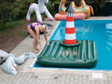 Vintage inflatable Jever pool island
