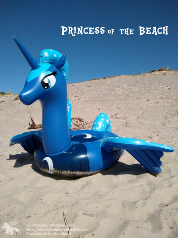 Reach for the Moon - inflatable pony float