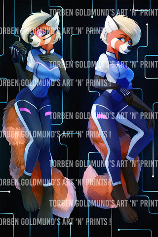 Space Red Panda by Tan-ArtDraw - Dakimakura
