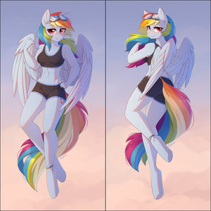 Inflatable body pillow - Rainbow Dash by Fensu