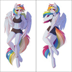Inflatable body pillow - Anthro Rainbow Dash by Fensu