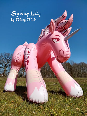 Spring Lily - the inflatable floral unicorn