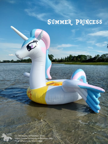 Feels like Heaven - inflatable pony float