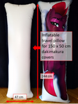Vinyl inflatable pillow for 150 cm x 50 cm dakimakura covers