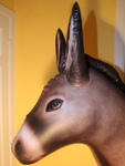 "Vintage inflatable ""lifelike"" donkey - 76"" tall"
