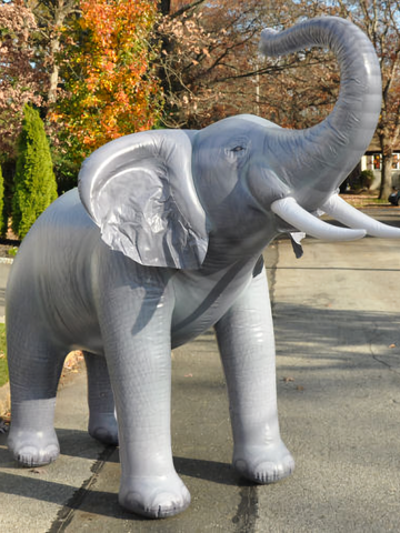 "Vintage inflatable ""lifelike"" Elephant - 120"" long"