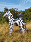 "Vintage inflatable zebra - 72"" tall"