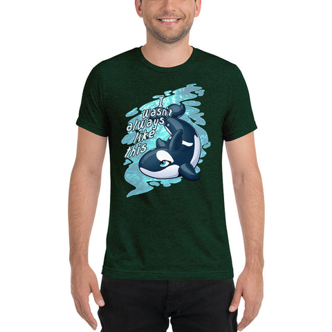 Tri-blend Short Sleeve T-Shirt - Inflatable Orca by Dirty Bird