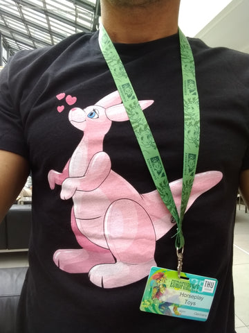 "Fitted T-shirt - ""Pink Kangaroo"" by Arin"
