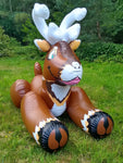 Flausi - the inflatable reindeer