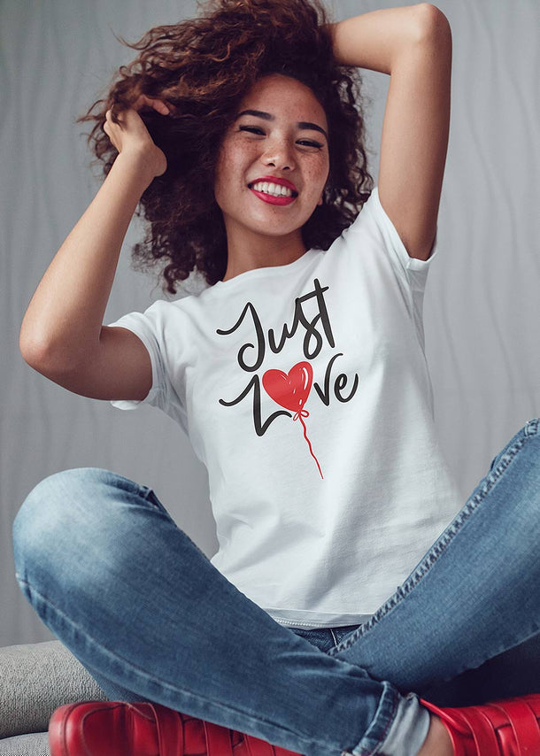 """Just Love"" White T-Shirt"