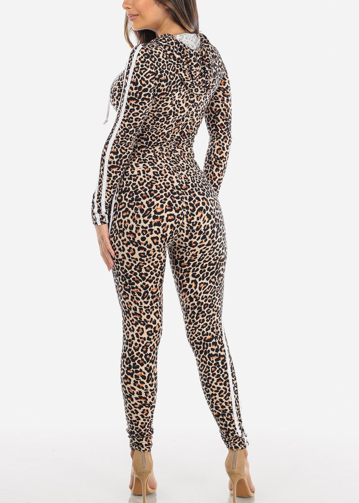 Black Animal Print Top & Pants (2 PCE SET)
