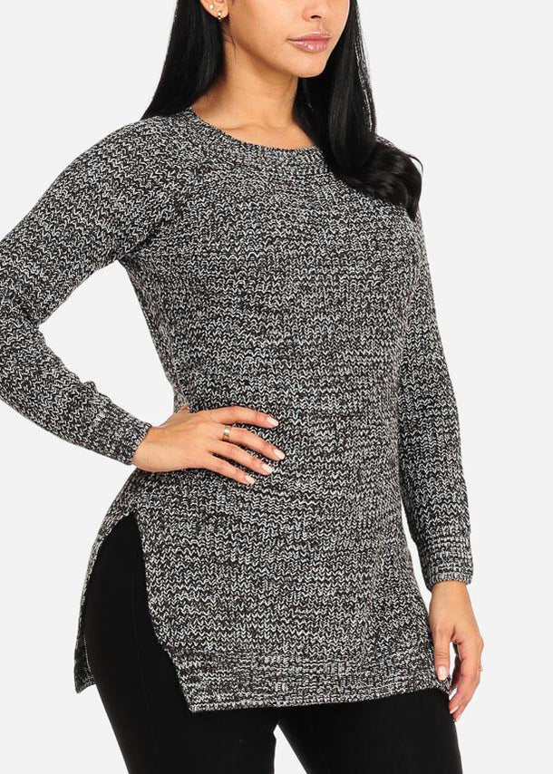 Dark Grey Long Sweater