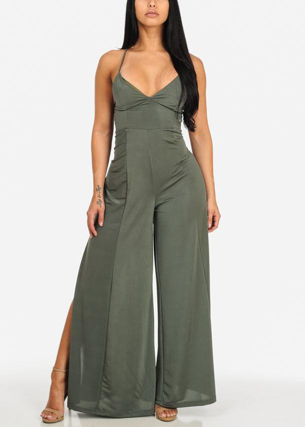 Night Out Green Jumpsuit
