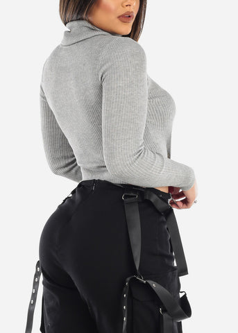 Image of Grey Turtleneck Sweater
