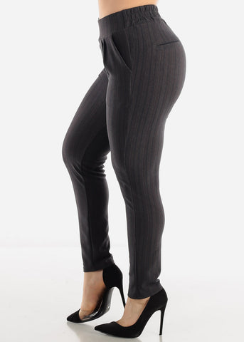 Grey Stripe Dress Pants