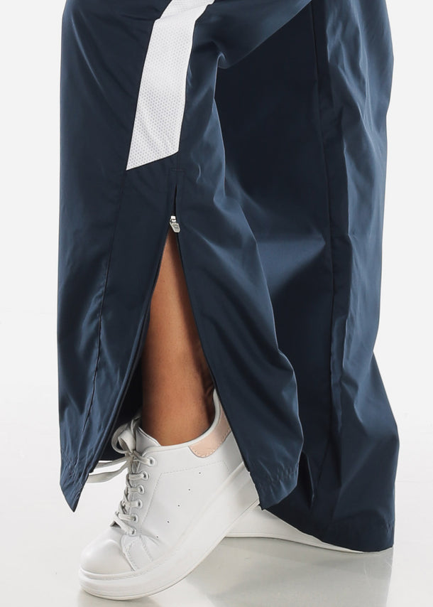 Navy Drawstring Waist Athletic Pants