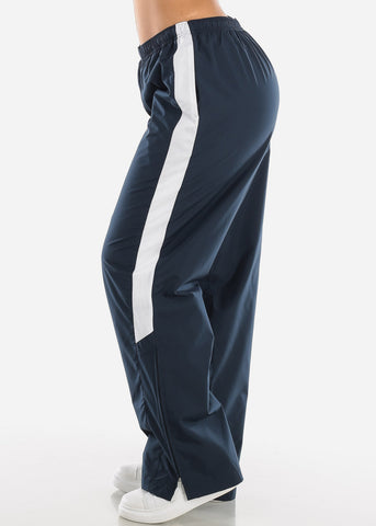 Image of Navy Drawstring Waist Athletic Pants LPO010NVY