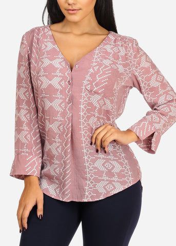 Pink Top W Front Pocket