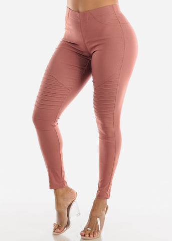 Image of High Waisted Brick Moto Skinny Pants