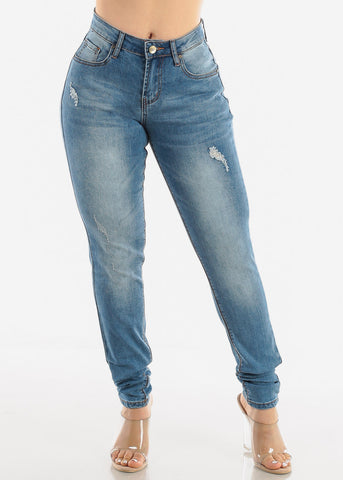 Image of Medium Blue Ripped Jeans
