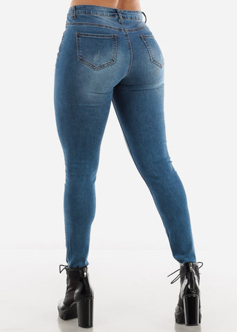 Light Blue Mid Rise Jeans