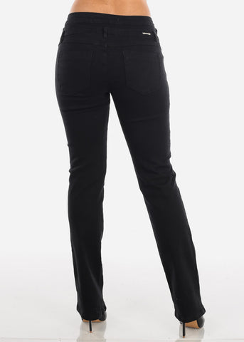 Image of High Waisted Bootcut Solid Black jeans