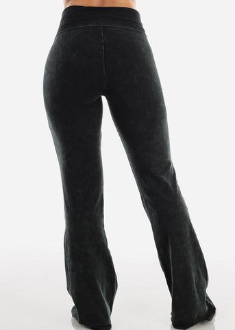 Image of Mineral Wash Hunter Green Yoga Pants