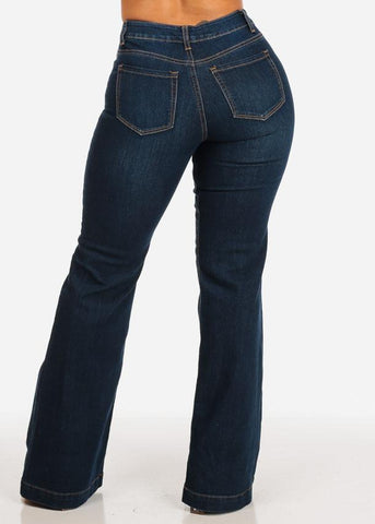 Image of High Rise Flare Jeans