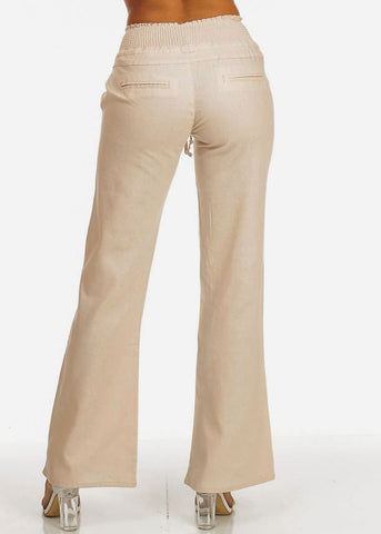 Image of Boho Khaki Wide Leg Pants