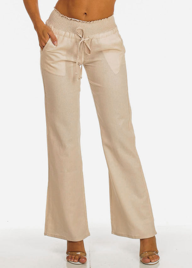 Boho Khaki Wide Leg Pants