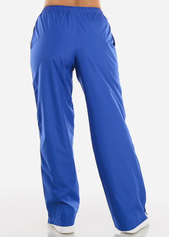 Image of Blue Drawstring Waist Athletic Pants LPO010RYL