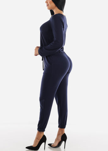 Image of Front String Jumpsuit