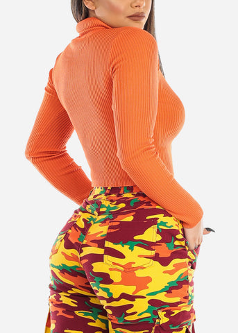 Image of Turtleneck Sweater Orange