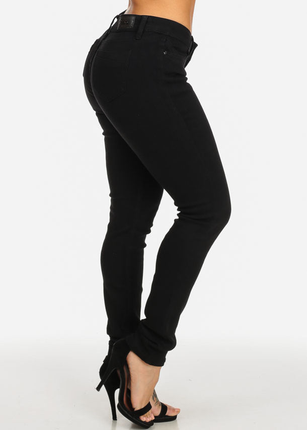 Black 5-Pocket Slim Skinny Jeans